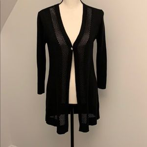 Cable and Gauge Black light weight cardigan